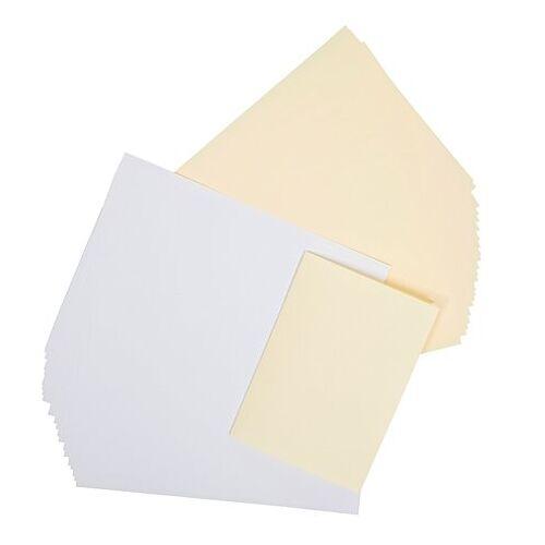 Einlegeblätter, weiß-creme, 146 x 208 mm, 50 Stück