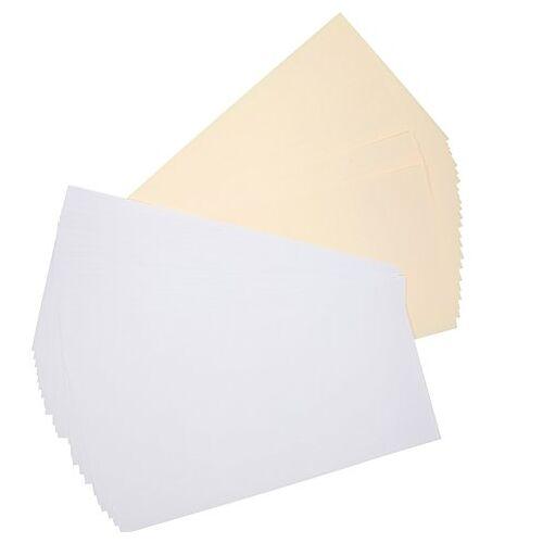 Einlegeblätter, weiß-creme, 133 x 266 mm, 50 Stück