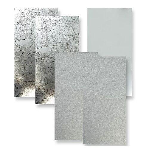 """Wachsplatten """"Silbermix"""", 20 x 10 cm, 5 Stück"""