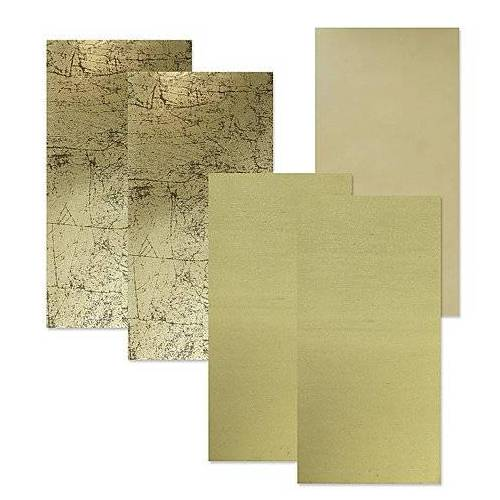 """Wachsplatten """"Goldmix"""", 20 x 10 cm, 5 Stück"""