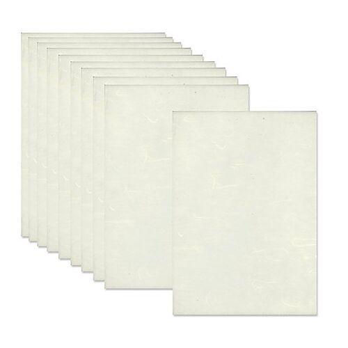 Faserseide-Set, weiß, 22,5 x 32,5 cm, 12 Blatt