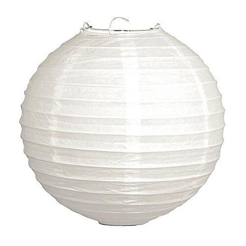 Papierlampions, 2 Stück, 20 cm Ø, weiß