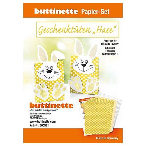 """Papier-Set Geschenktüten """"Hase"""", gelb, 5 Tüten"""