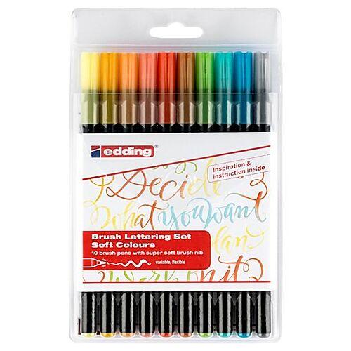 edding Brush Lettering-Set Soft colours, 10 Stifte