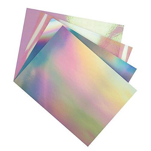 Folia Irisierender-Mix, 25 x 35 cm, 12 Blatt