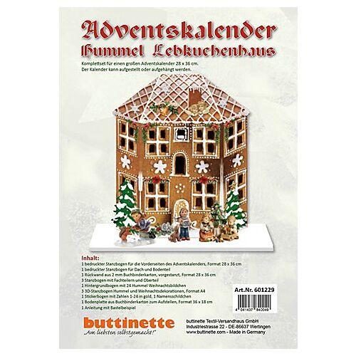 """Adventskalender-Bastelset """"Lebkuchenhaus"""""""
