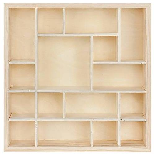Setzkasten aus Holz, eckig, 35 x 8 x 35 cm