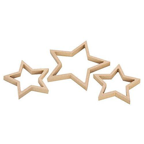 MDF-Quilling-Sterne-Set, 14 cm und 10 cm, 3 Stück