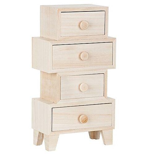 Schränkchen aus Holz, 16 x 8 x 30 cm