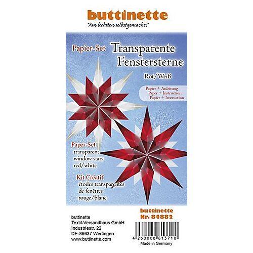 "Papierset ""Transparentpapier-Sterne"", rot-weiß, 4 Sterne"