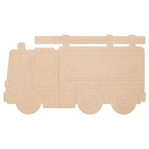 MDF-Feuerwehrauto, 50 x 28 cm