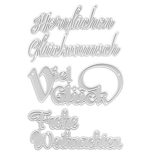"Stanzschablonen-Set ""Schriftzüge I"", 3 Stück"