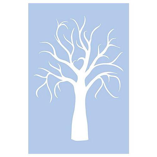 """buttinette Schablone """"Hochzeitsbaum"""", 39 x 59 cm"""