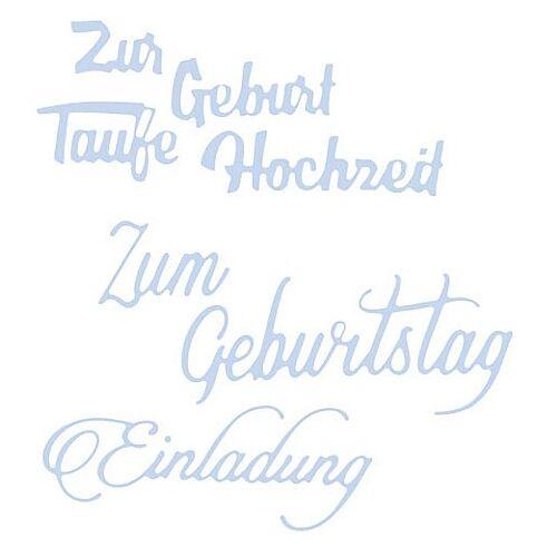 "Stanzschablonen-Set ""Schriftzüge II"", 3 Stück"