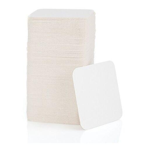 Bierdeckel, quadratisch, natur, 9,3 x 9,3 cm, 100 Stück