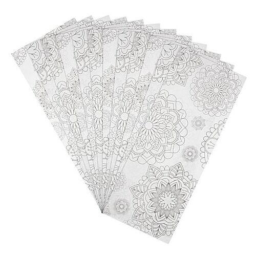 """Laternen-Zuschnitt """"Mandalas"""", 20 x 50 cm, 25 Stück"""
