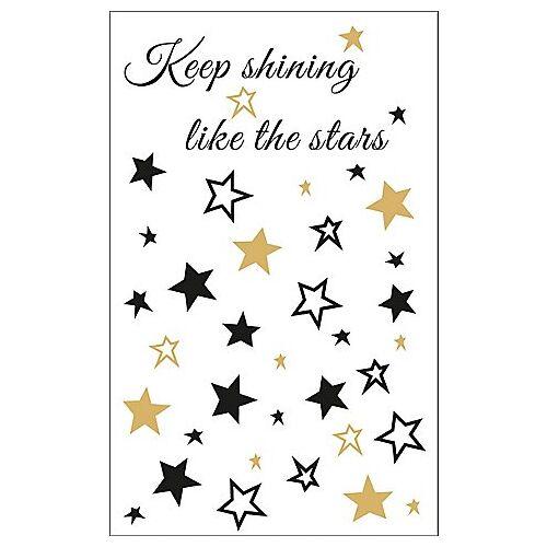 "Deko-Abziehmotiv ""Stars"", 2 Bogen"