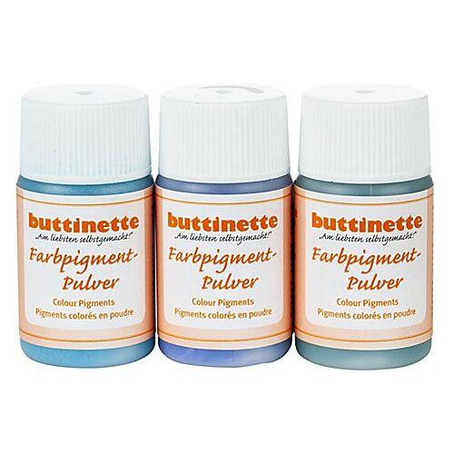 Farbpigment-Pulver, blautöne, 3x 20 ml