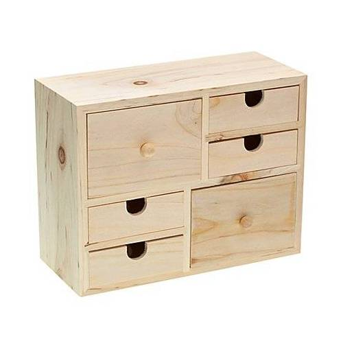 Schränkchen aus Holz, 22 x 9,5 x 17 cm