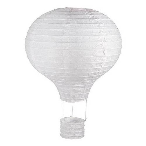 "Papierlampion ""Heißluftballon"", weiß, 30 cm Ø"