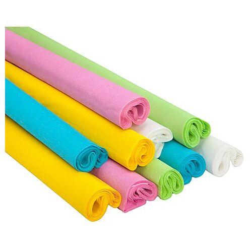 "Krepp-Papier ""pastell"", 50 cm, 2,5 m, 10 Rollen"