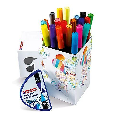 edding Filzstifte-Set, 20 Stifte mit Pinselspitze