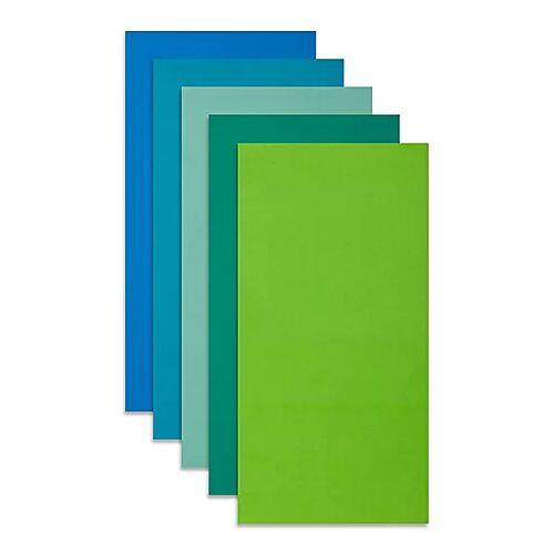 "Wachsplatten ""Blautöne"", 20 x 10 cm, 5 Stück"
