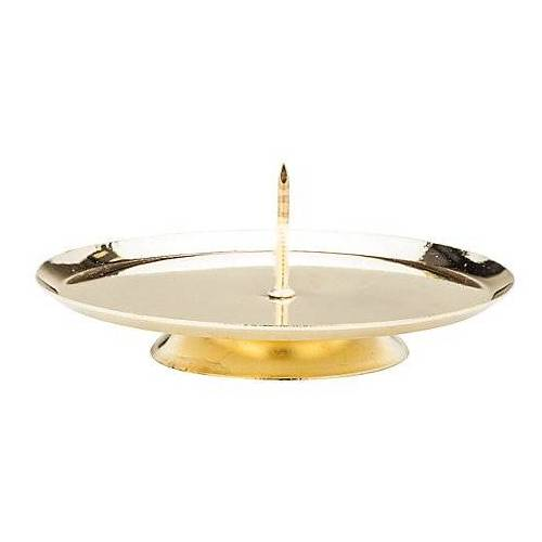 Kerzenhalter zum Stellen, gold, 7,5 cm Ø, 4 Stück