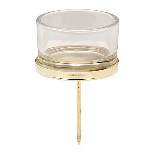 Kerzenhalter, gold, 5 cm Ø, 4 Stück