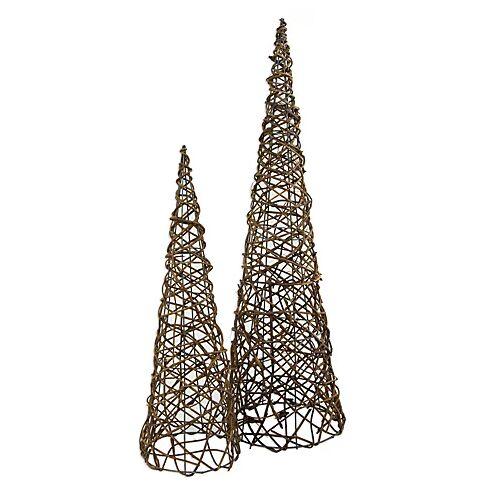 Reben-Pyramiden-Set, 50 cm und 70 cm, 2 Stück