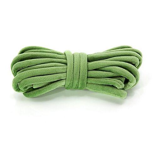 Samt-Schlauch, grün, 7 mm, 4 m