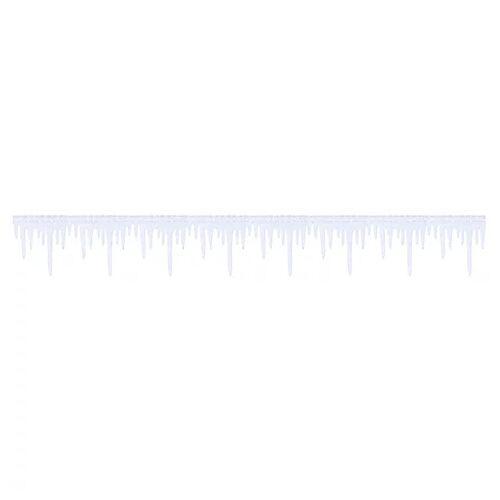 Eiszapfen-Band aus Filz, weiß, 3 m