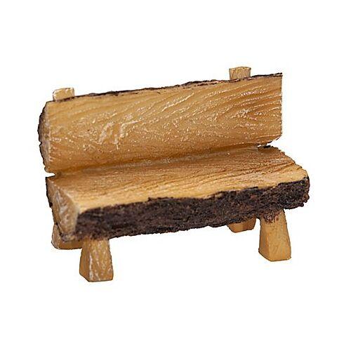 Sitzbank in Holzoptik, 8,5 x 4 x 6 cm