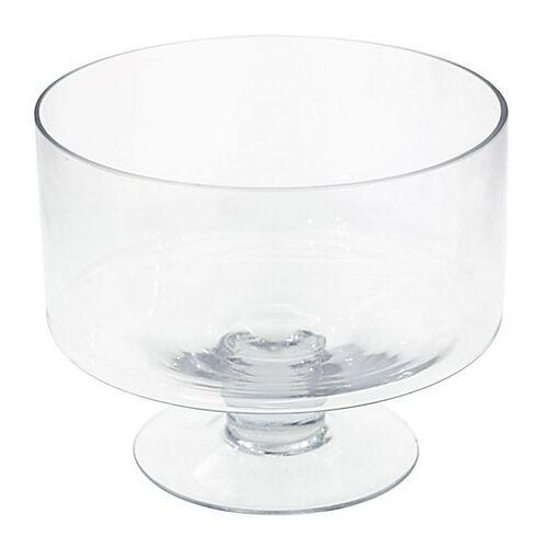 Glasschale mit Fuß, 20 cm, 25 cm Ø