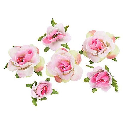 Rosenköpfe, rosa, 1–2,5 cm Ø, 27 Stück
