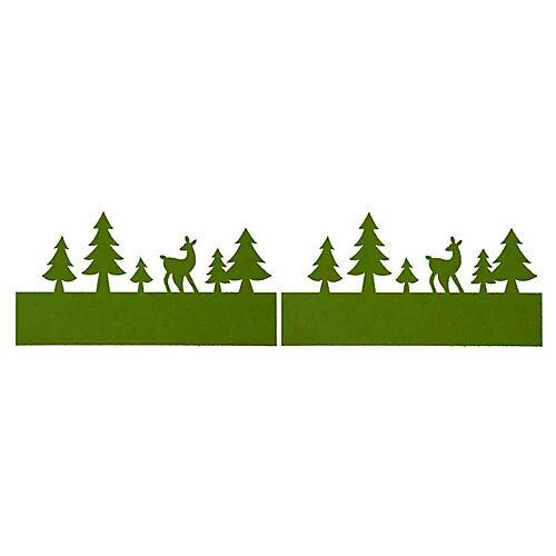 """Filzband """"Winterlandschaft"""", grün, 30 x 13 cm, 2 Stück"""