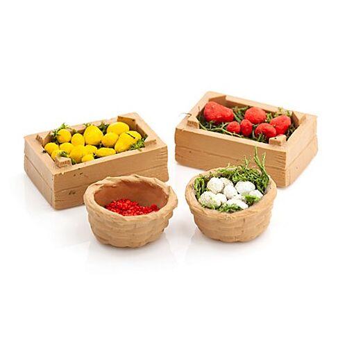 Früchte-Korb, 4 Stück