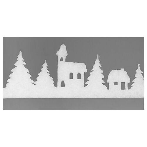 """Weihnachtliche Fensterdeko """"Dorf"""", 10 - 20 cm hoch, 1,8 m lang"""