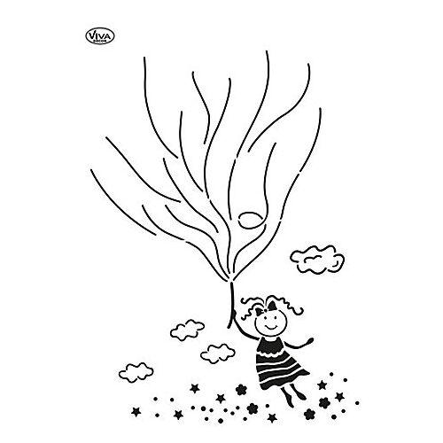 """Blob-Schablone """"Luftballon-Mädchen"""""""