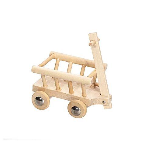 Leiterwagen aus Holz, 10,5 x 4 x 3,5 cm