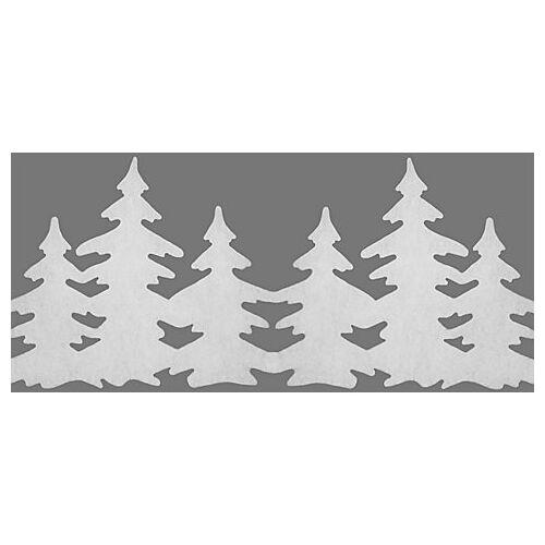 """Weihnachtliche Fensterdeko """"Tannen"""", 28 - 36 cm hoch, 1,2 m lang"""