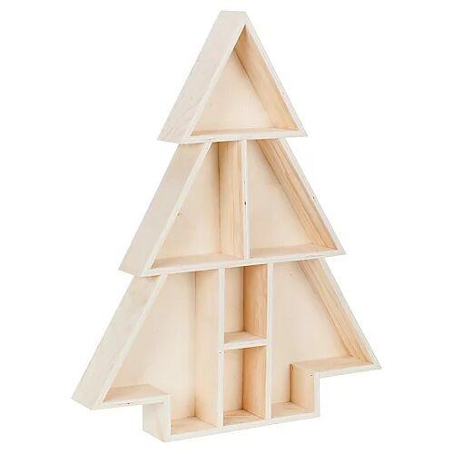 """Setzkasten """"Tannenbaum"""" aus Holz, 40,5 x 6,5 x 50 cm"""