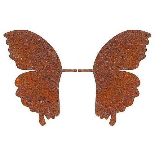 Braun Rost-Schmetterlingsflügel aus Metall, braun, 25 cm, 1 Paar