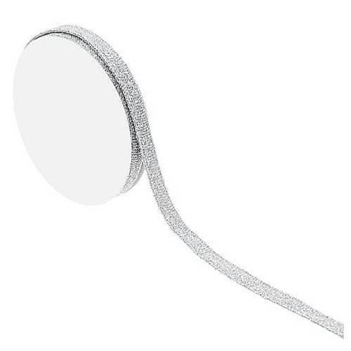 Schmales Band, silber, 10 mm, 5 m