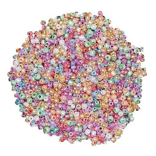 Rocailles-Perlen, Pastelltöne, 2,5 mm Ø, 100 g
