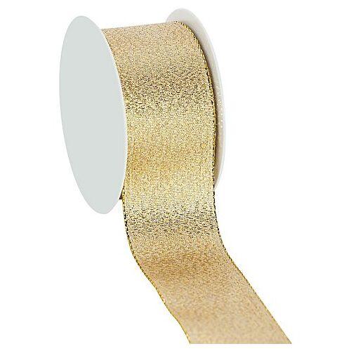 Stoffband, gold, 40 mm, 10 m