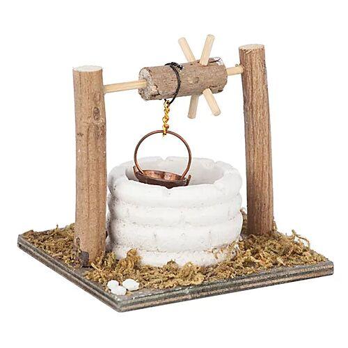 Brunnen aus Holz, 9 x 8 x 7,5 cm