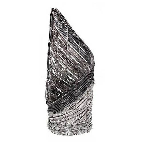 Rattan-Topf, grau, 15 x 40 cm