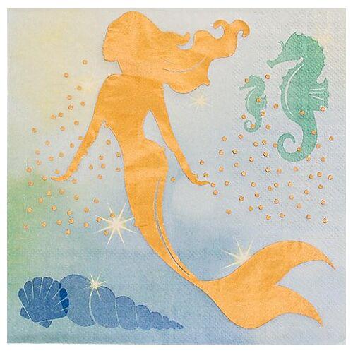 "Papierservietten ""Meerjungfrau"", metallic, 33 x 33 cm, 12 Stück"