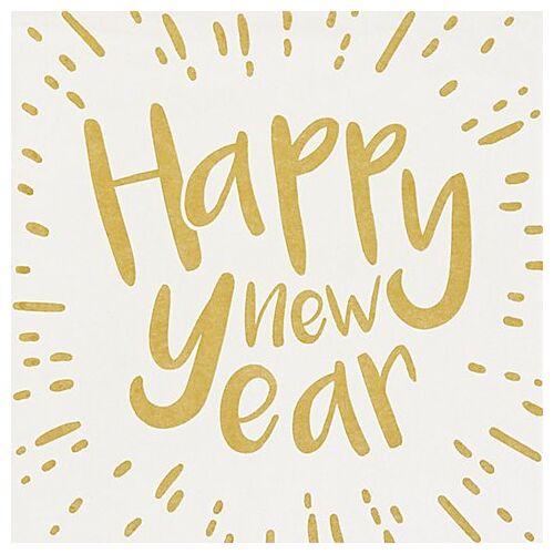 """Serviette """"Happy new Year"""", 33 x 33 cm, 12 Stück"""